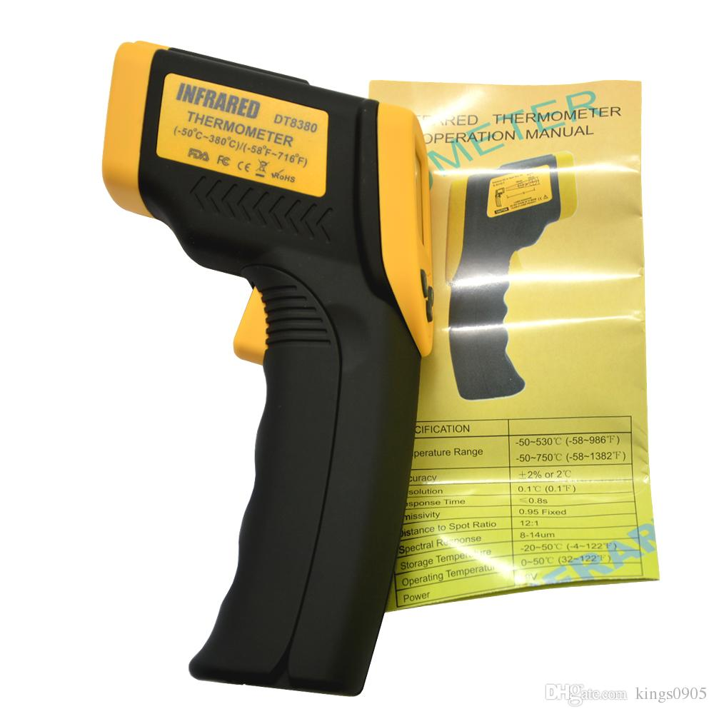 1PC DT8380 Digital IR Non-Contact Infrared Thermometer With Laser Pointer Backlight Selection Function (-50C~380C)(-58F~716F)