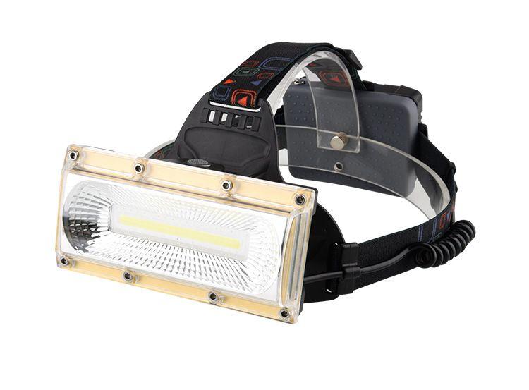 COB LED USB Rechargeable Phare 3 Modes Extérieur LED Camping Tête Chasse Lampe Utral Bright Phare Utiliser 3x18650 Batterie Livraison Gratuite