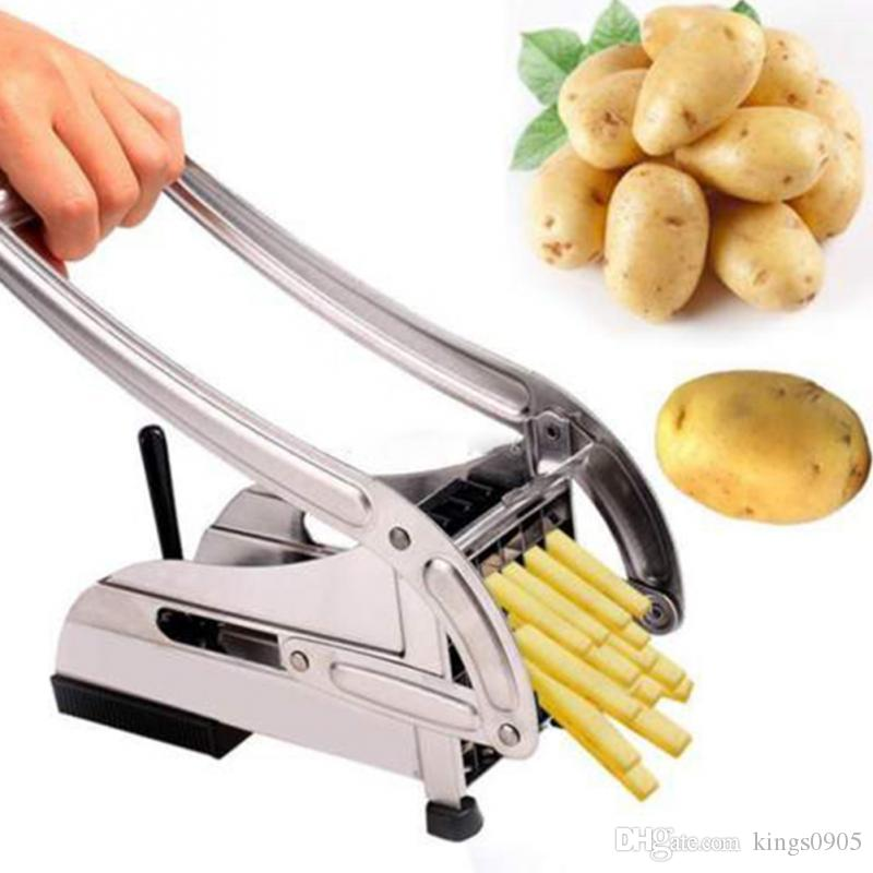New Kitchen Tool Stainless Steel French Fry Cutter Potato Cutter Kitchen Gadgets Cucumber slice cutting machine tool