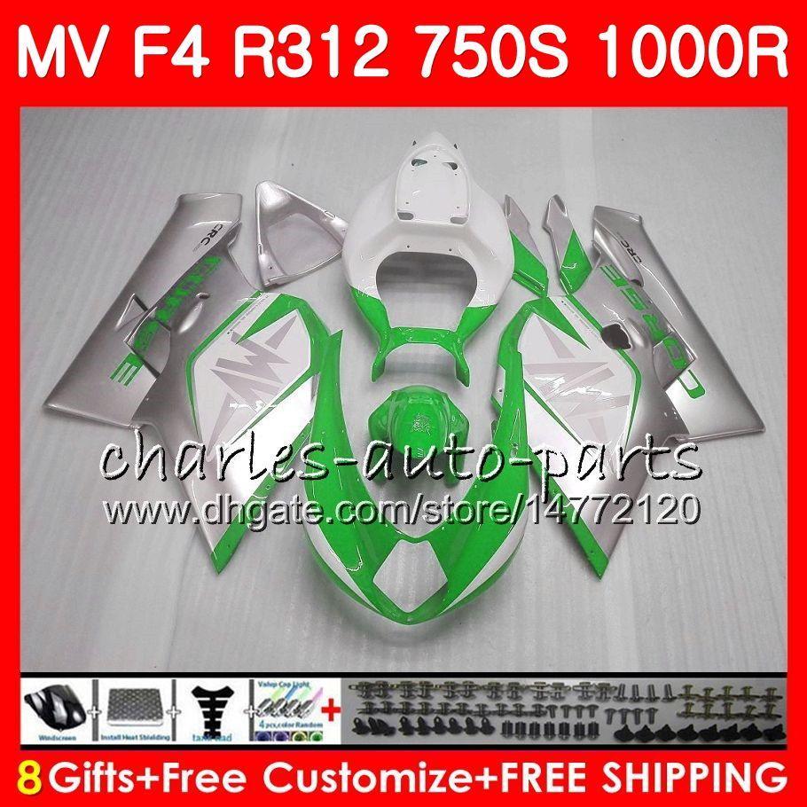 Nadwozie dla MV Agusta F4 1000R 312 1078 1 + 1 750 1000CC 05 06 102HM70 750 R312 750S 1000 R MA MV F4 2005 2006 05 06 Owalnia ramka biały