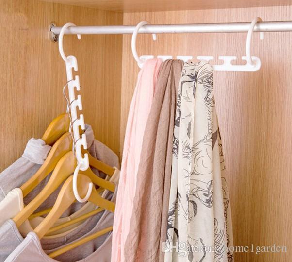 سحر الملابس شماعات 3D الفضاء إنقاذ رفوف الملابس خزانة المنظم مع هوك
