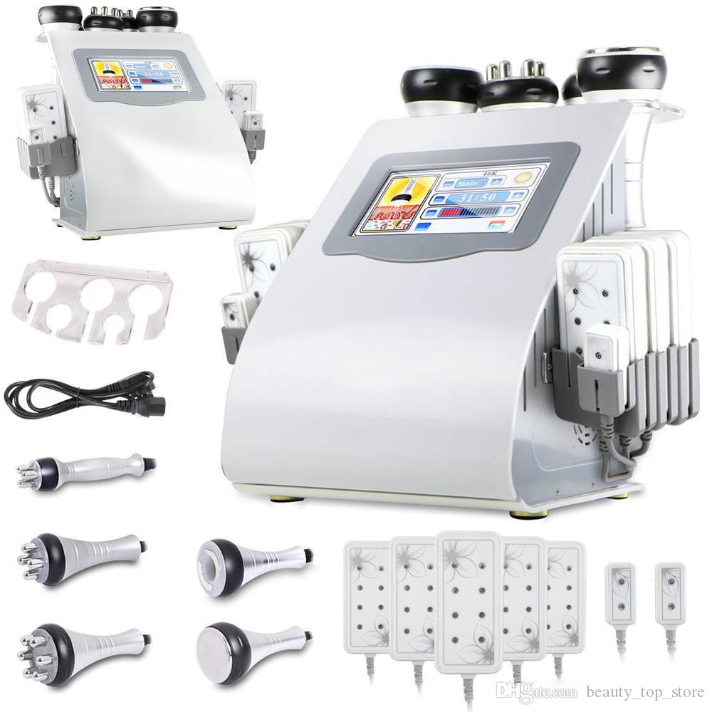 New Promotion 6 In 1 Cavitation Vacuum Radio Frequency Slimming Machine for Spa Fast Express Shipping