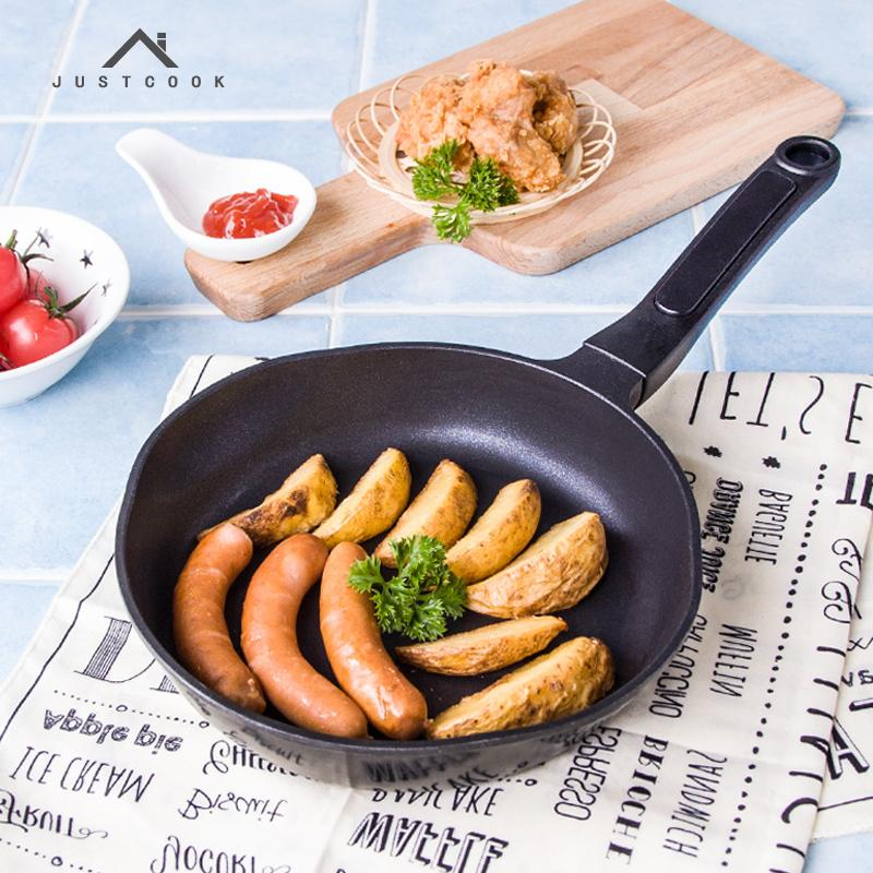 Non-stick Justcook 18 Cm Frying Pan Non -Stick No Oil -Smoke Griddles & Grill Pans Cooking Tools General Use For Gas And Induction Cooker