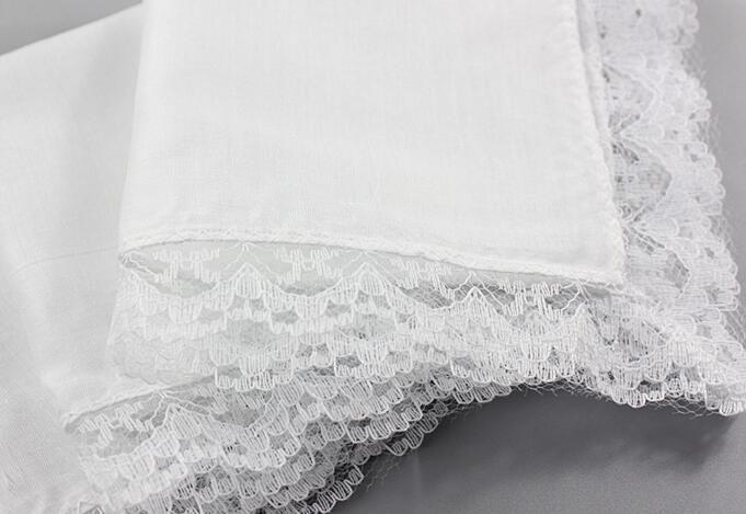 10pcs 빈티지 여성 포켓 스퀘어 레이디 한시 손수건 흰색 레이스 자수 어린이 코튼 웨딩 핸드 타올 선물 냉각