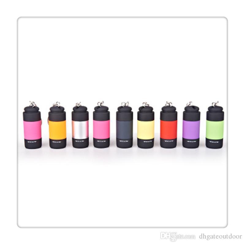 Mini Flashlights Led Flashlight USB Torch Rechargeable Colorful LED Flashlight High Powered Keychain Lamp Key Chain Flashlights