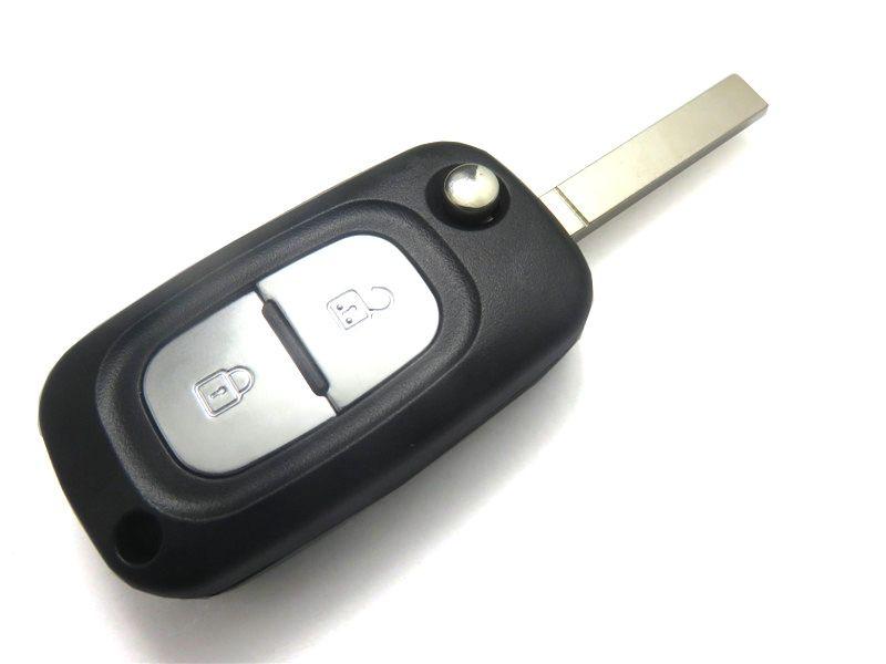 Car Cover Folding Remote Keyless New Auto Key Case for Renault Clio Megane Kangoo Modus 2 Buttons Uncut Blade Flip Fob