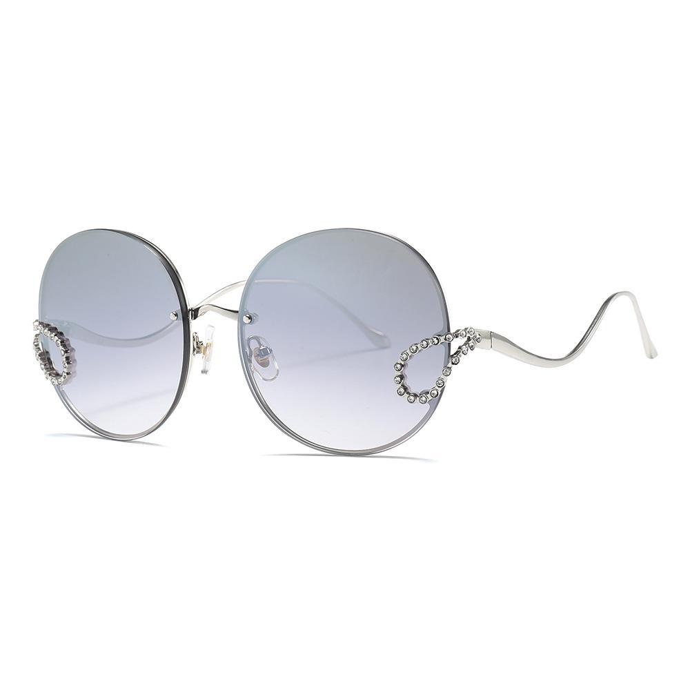 Новые ретро круговые обрамленные multi солнечные очки модные тенденции личности солнечных очков змейки Диаманта