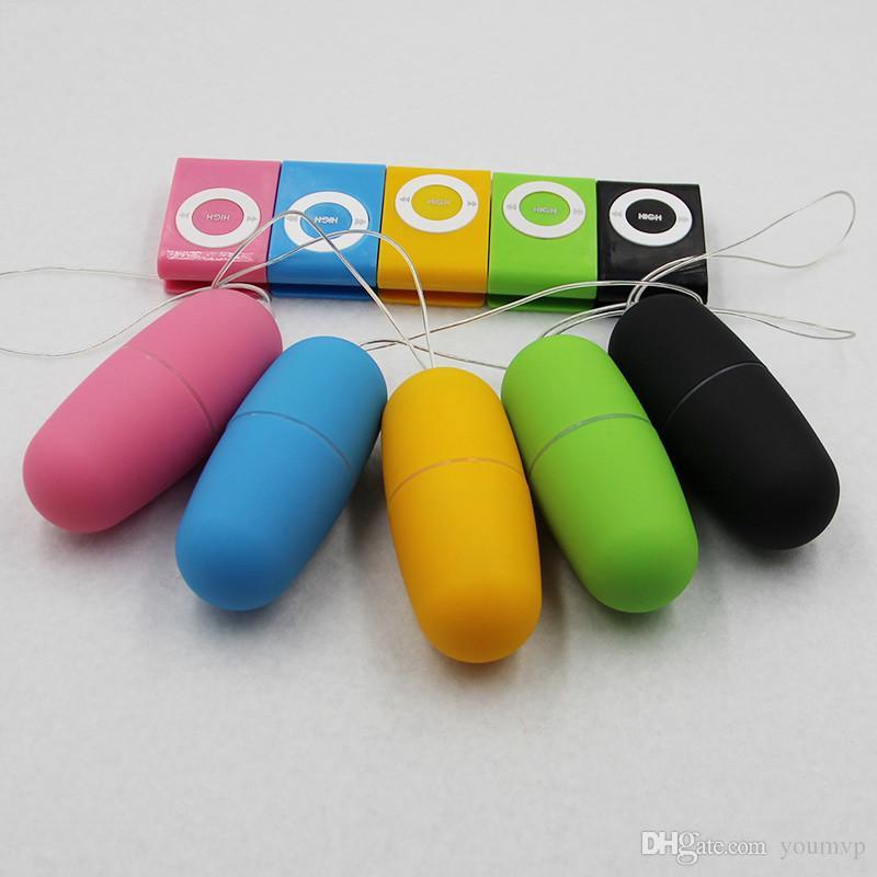 20 velocità impermeabile MP3 telecomando vibrazione di salto uovo vibratore pallottola giocattoli del sesso per le donne