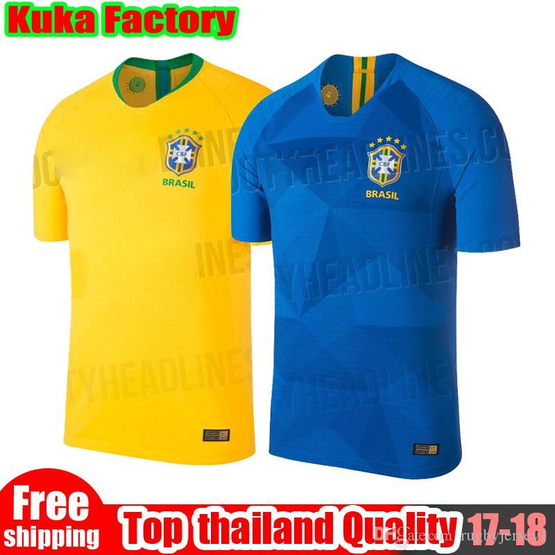 pretty nice 2ca42 32e47 2018 Brazil 2018 World Cup Kit Neymar Jr Coutinho Jesus Jerseys Oscar  Casemiro David Luiz Marcelo Casemiro Brasil National Team Football Shirt  From ...