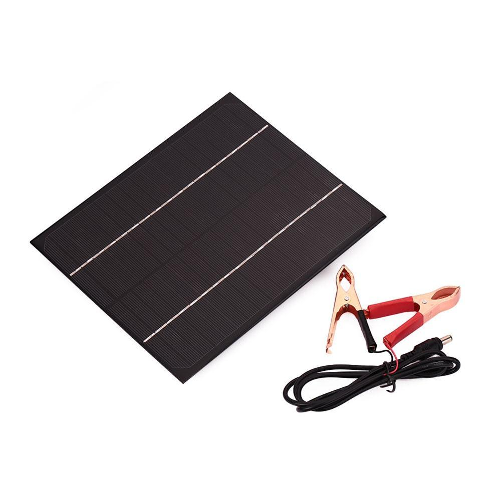 6W DC 18V Solar Panel Supply Battery Charger Monocrystalline Silicon Waterproof Storge Energy Charging Board Cells For 12V Battery