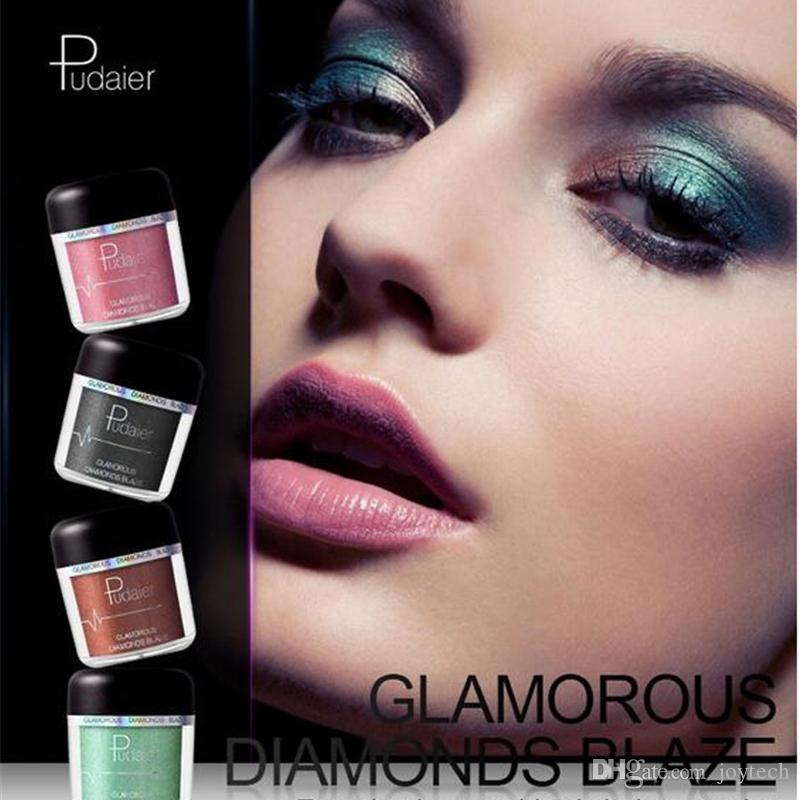 28colors PUDAIER New metallic glitter eye shadow single waterproof eyeshadow Easy to Wear makeup matte Shimmer Eye Shadow free shipping
