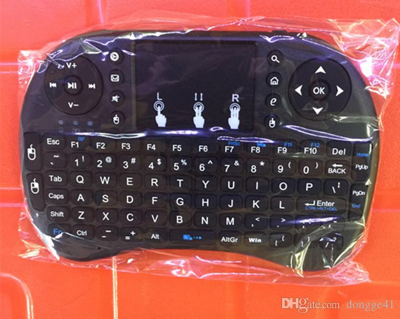 Mini Rii i8 Wireless Tastatur 2.4G Englisch Air Mouse Tastatur Fernbedienung Touchpad für Smart Android TV Box Notebook Tablet PC