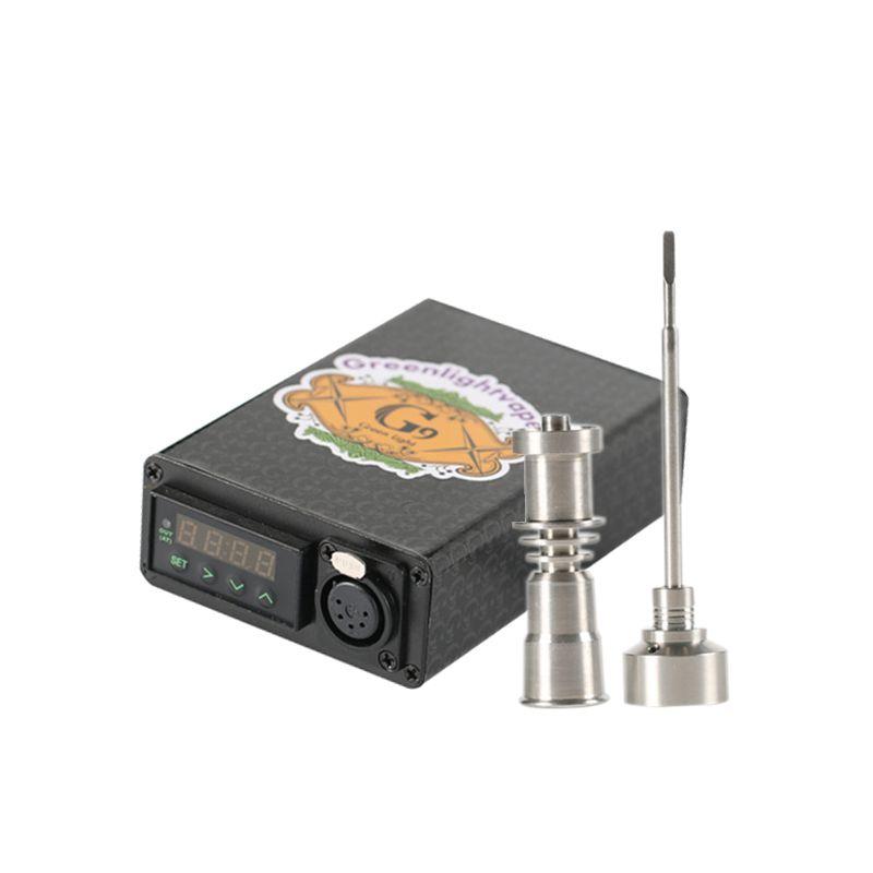 Original G9 Electric Mini Enail Nail Dabber Temperature Control Box With Ti Nail Carb Cap Water Pipes Bong Wax Vaporizer DHL Free Shppingi