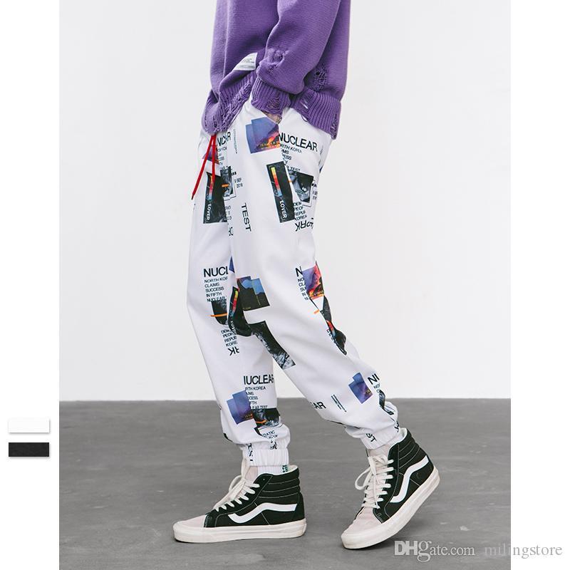 Pantalones de harén Pantalones de lápiz con estampado gráfico Pantalones de chándal con cintura elástica Pantalones para hombre Moda para mujer Pantalones de chándal