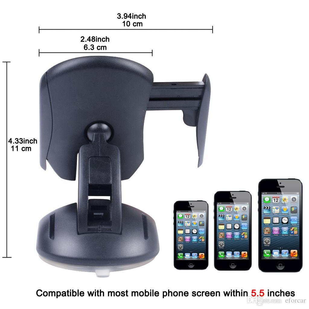 크리 에이 티브 마우스 모양의 휴대 전화 탑재 대시 보드 데스크탑 Foldable 자동차 홀더 스마트 폰 GPS (360도 회전) 블랙