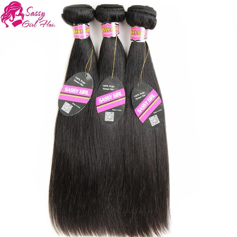 브라질 스트레이트 헤어 익스텐션 3 PC의 인간의 머리카락 번들 온라인 저렴한 브라질 버진 헤어 스트레이트와 함께 부드러운 염색 자연 색상