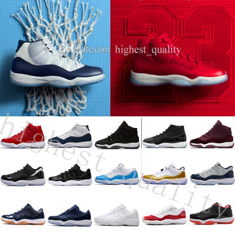 2018 дешевые горячие новые 11 выиграть, как 96 Конкорд прохладный серое пространство варенье Университетский Красный мужская баскетбольная обувь 11С середине спортивные XI спортивные кроссовки нас 5.5-13