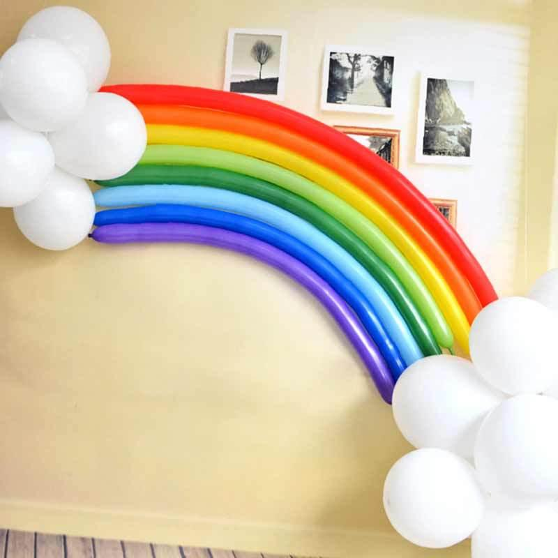 Hot sale party decoration rainbow latex balloon decoration wedding Valentine's Day birthday party supplies latex balloon HFB26