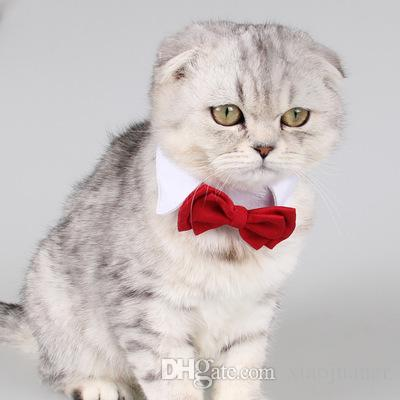 wholesale Hot Sales Pet Supplies Red Colors Cats Dog Tie Wedding Accessories Dogs Bow tie Collar Holiday Decoration Christmas Grooming