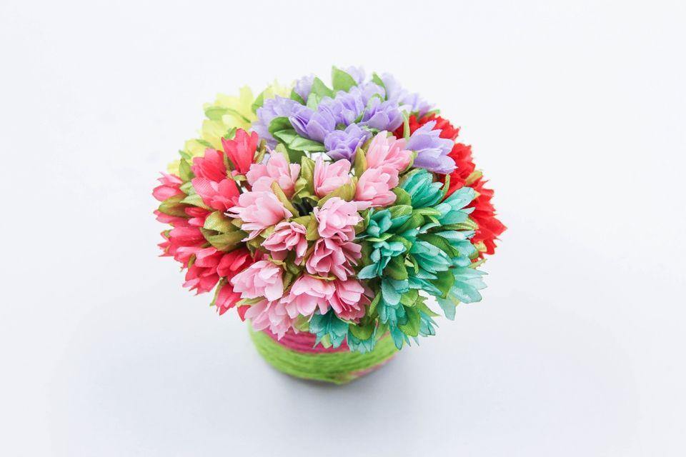 12 Adet / grup Toptan DIY Ipek Yapay Çiçekler Buket Ev Düğün Parti Için Scrapbooking Dekoratif Çelenk craft Sahte Çiçekler