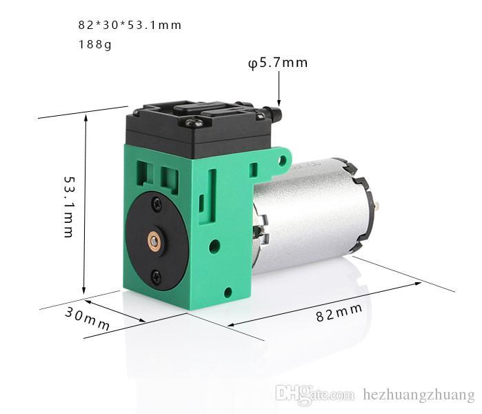 Mini-Vakuumpumpe 24V mit Unterdruck -58Kpa Membran-Vakuumpumpe 2.5L / MIN Flow