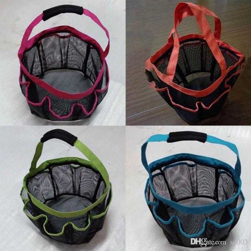 8 Bolso De Malha Caddy Tote Eco Friendly Com Alça Roupas Sujas Lavagem De Plástico Dobrável Cestas De Armazenamento De Alta Capacidade 10 5wx ZZ