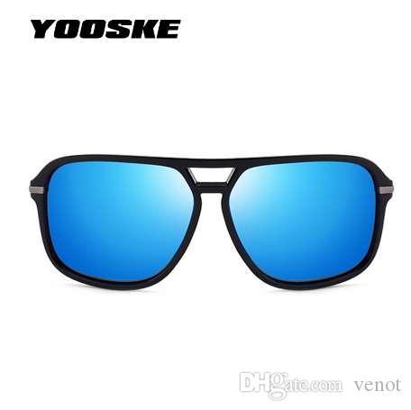 YOOSKE Classic HD Gafas de sol polarizadas Hombres de diseño de marca Gafas de sol Hombre Espejo Retro gafas de sol de alta calidad