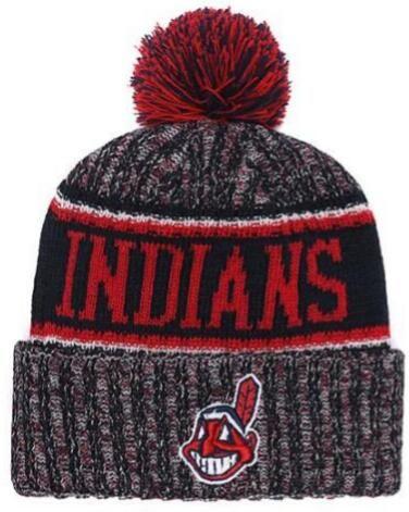 2019 Winter Clevand Beanie Skull Hats for Men women Knitted Beanie Wool Hat Man Knit Bonnet Beanies Warm Baseball Cap