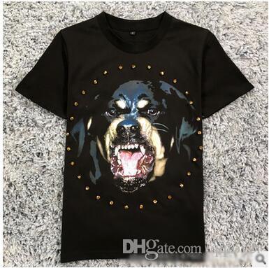 2018 T-shirt dos homens de Manga Curta O Novo Estilo Ocidental Hip Hop Cabeça de Maré Cabeça de Impressão T-shirt Solta Tshirt
