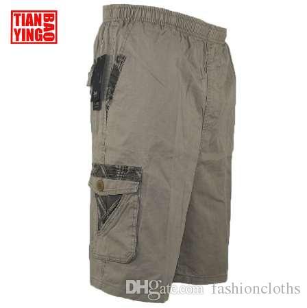 Großhandel Sommer Mens Cargo Shorts Baumwolle Armee Military Männer Lose Multi Pocket Casual Shorts Jungen Kühlen Lose Baggy Hosen Plus Große Größe