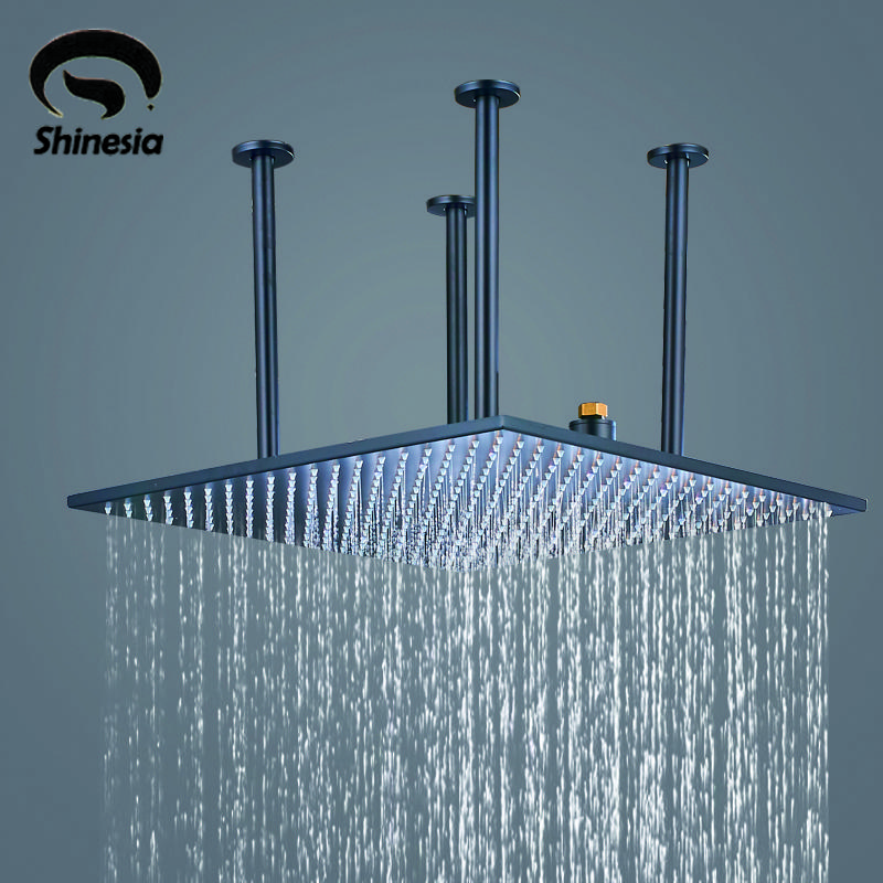 20 Inch Rain Shower Head.2019 Oil Rubbed Bronze Solid Brass 20 Inch Rainfall Shower Head With Shower Arm Ceiling Mounted From Rudelf 235 95 Dhgate Com
