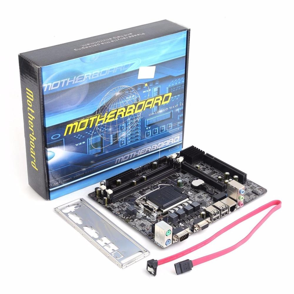 Freeshipping Professional Motherboard H55 A1 LGA 1156 DDR3 RAM 8G Board Desktop Computer Motherboard 6 Channel Mainboard