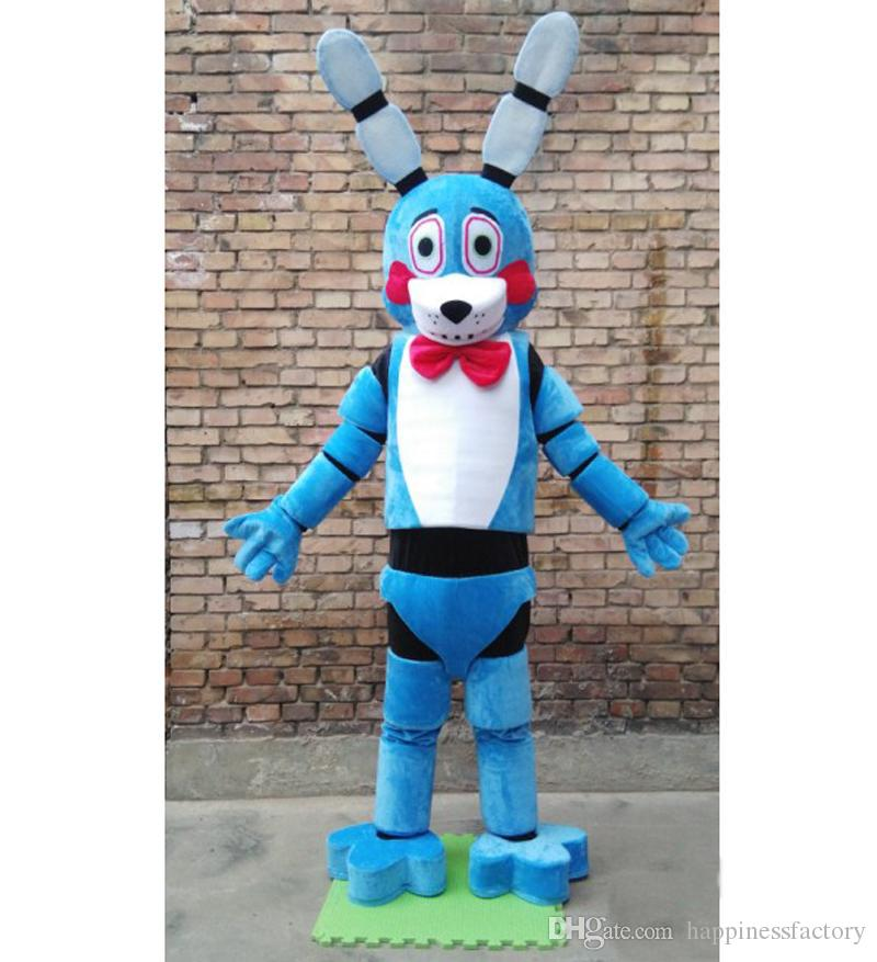 2018 Factory sale hot ive Nights At Freddy's FNAF Blue Bonnie Dog Mascot Costume Fancy Party Dress Halloween Costumes