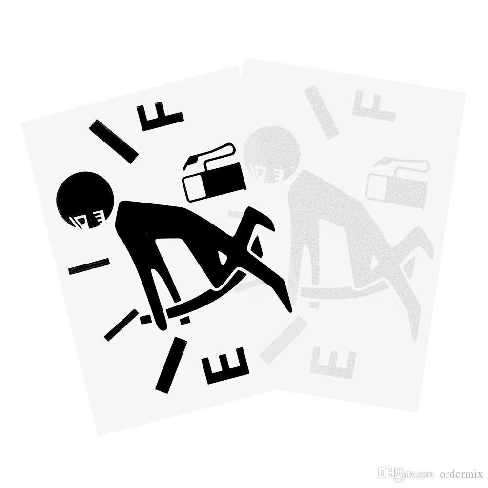 Naklejki samochodowe Vinyl Funny Reflectle Reflective Gage Puste naklejki Cartoon Graficzny Grafika wysokiej konsumpcji gazu Naklejka Samoprzylepna stylizacja samochodu