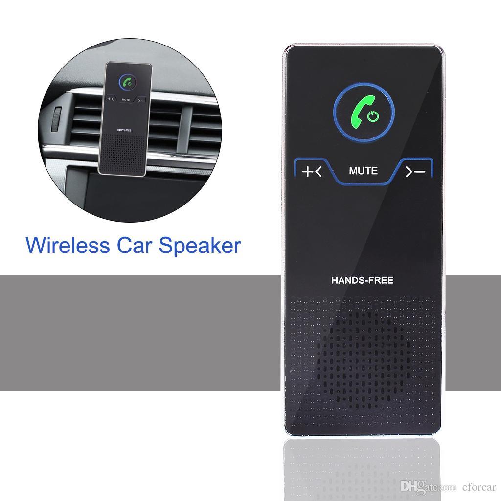 Altavoz inalámbrico del coche Manos libres Altavoz Bluetooth con Ventilador y soporte de visera Sol Reproductor de audio estéreo HD para iOS / Android Teléfono