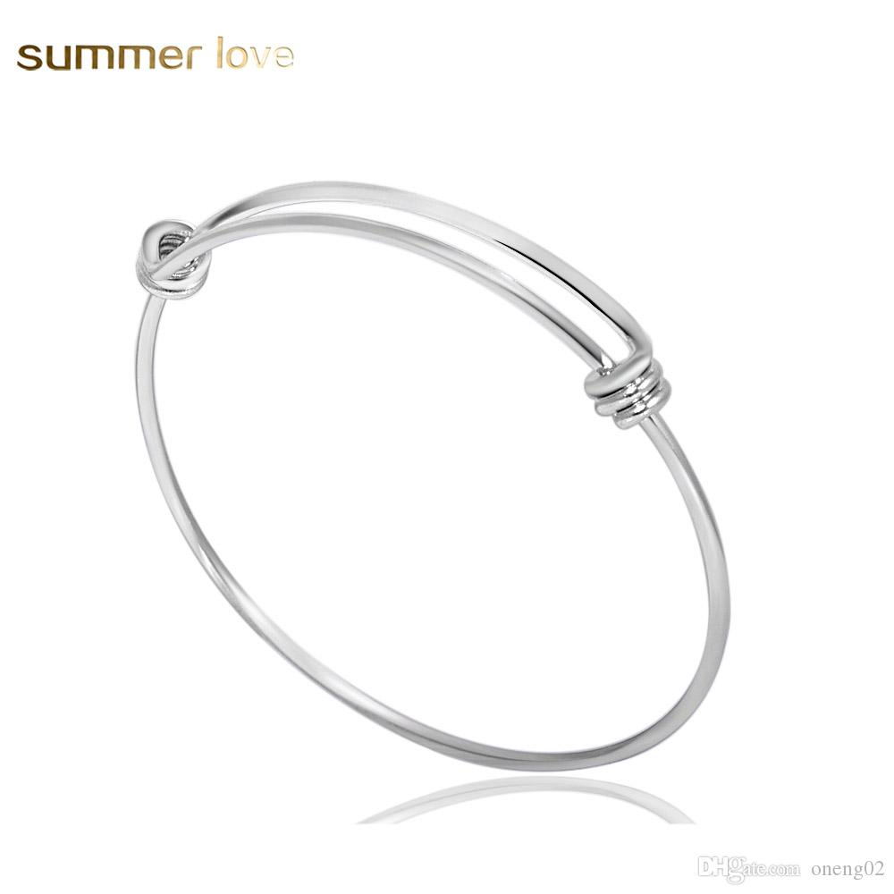 MEN WOMEN Stainless Steel Gold//Silver Twisted Cable Adjustable Bangle Bracelet