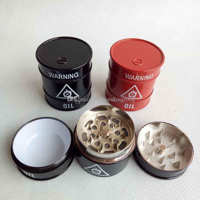 3-Piece Tobacco /& Herb Aluminum Grinder Novelty Dice Red Color