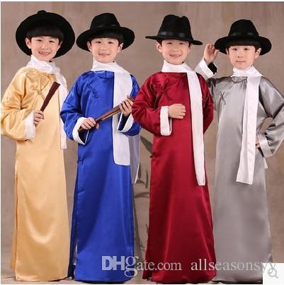 ropa trajes de ropa de caballero nacional batas para niños quizás los niños muestren estilo chino vestido nuevo