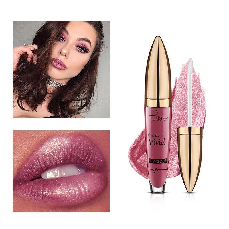 Жидкая губная помада Matte to Glitter Металлический блеск для губ Водостойкая косметика для губ 18 цветов Pudaier Блеск для губ Блеск для губ Алмазный блестящий блеск для губ