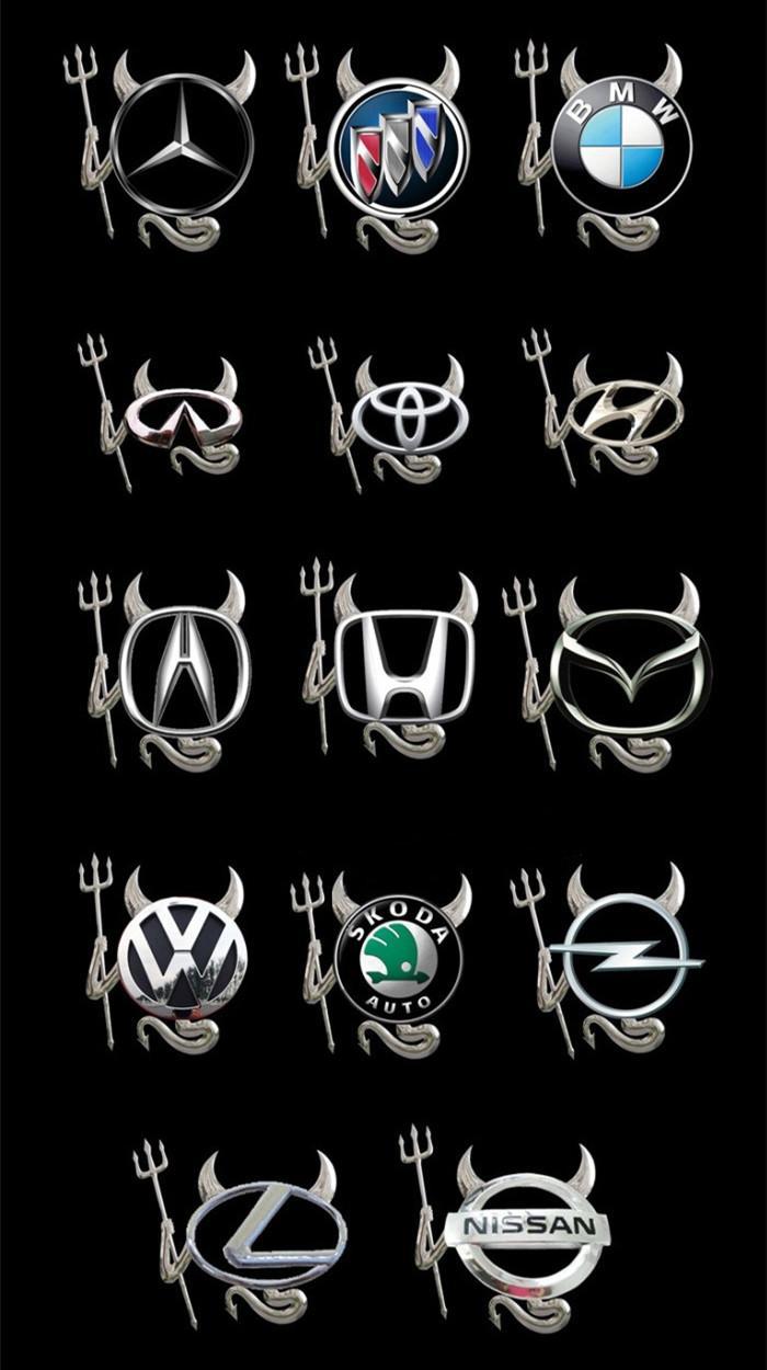 1× Car Logo 3D Silver Devil Style Car Sticker Decal Decor Badge Emblem Universal