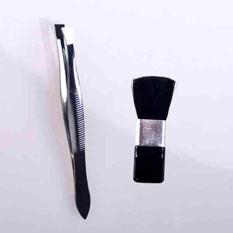 Kit de herramientas de uñas de terciopelo incluido cepillo de uñas y pinzas