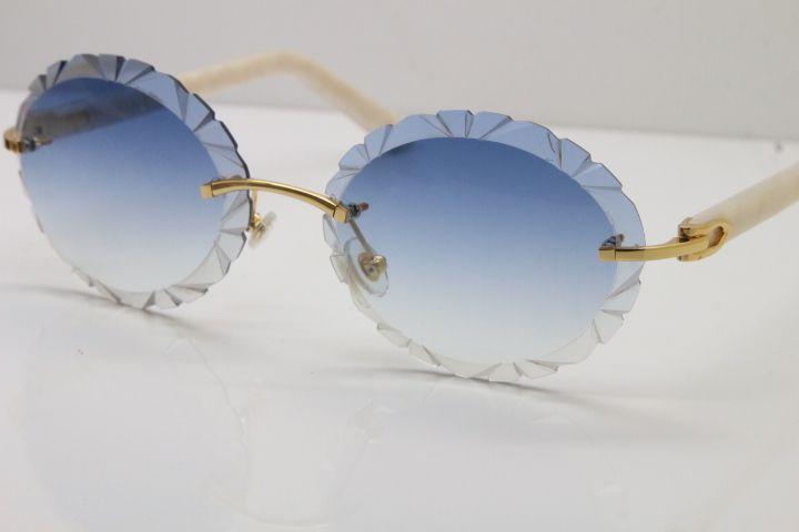 Бесплатная доставка Rimless Plank очки T8200761 Резные дизайн Обрезка объектива Винтажные солнцезащитные очки C украшения 2020 Горячая продажа половина кадра солнцезащитные очки