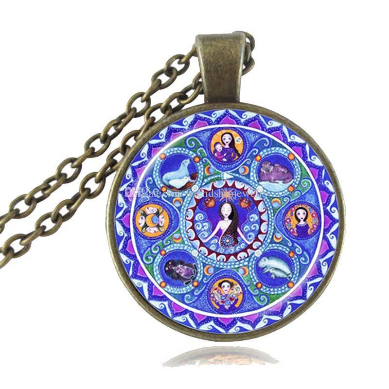 Necklace Astrology Mandala Pendant