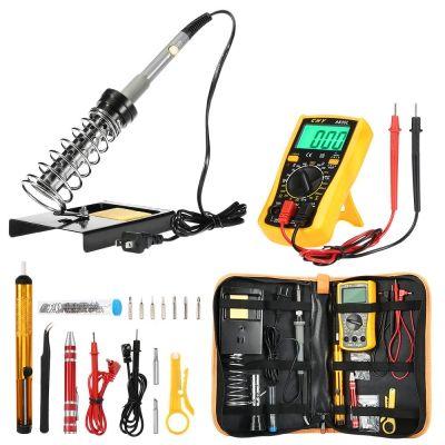 Kit de fer à souder avec outil de soudage à température réglable pour fer à souder, outil de réparation de soudage portable, pincettes