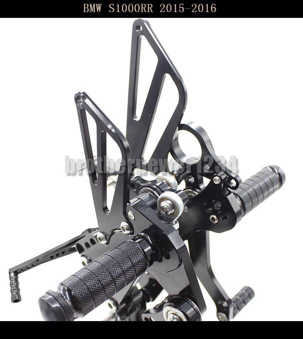 For Kawasaki ZX6R 2009-2015 CNC Foot pegs Rearsets Rear set Black Adjustable