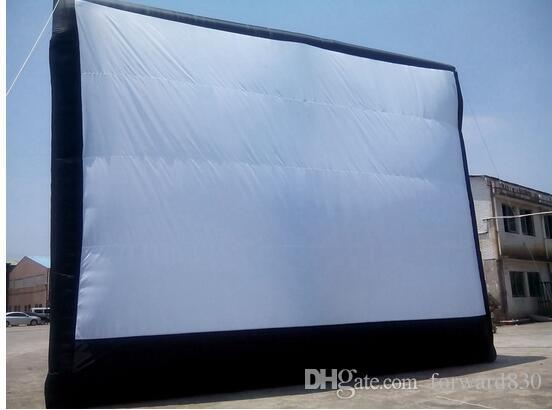 9 * 7M العملاق نفخ شاشة السينما ، في الهواء الطلق نفخ الشاشة مع منفاخ