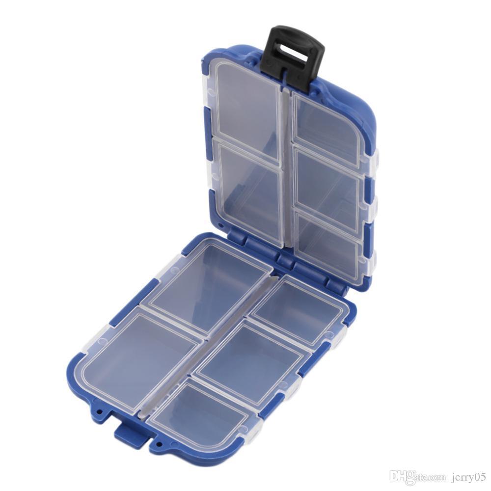 Tackle 10 Fächer Aufbewahrungskoffer Fly Fishing Lure Haken Köder Tackle Case Box Angelzubehör Werkzeuge Neu