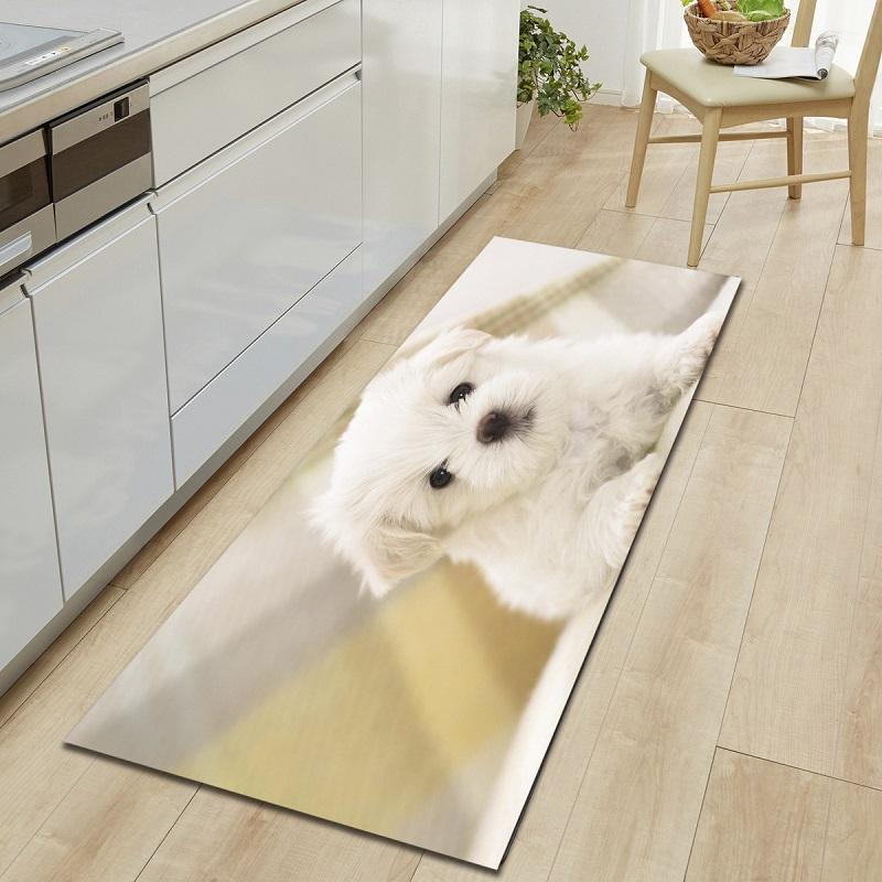 Dog Cats Printed Entrance Doormat Cartoon Long Floor Mats Carpets for Living Room Kitchen Bathroom Rugs tapetes para casa sala