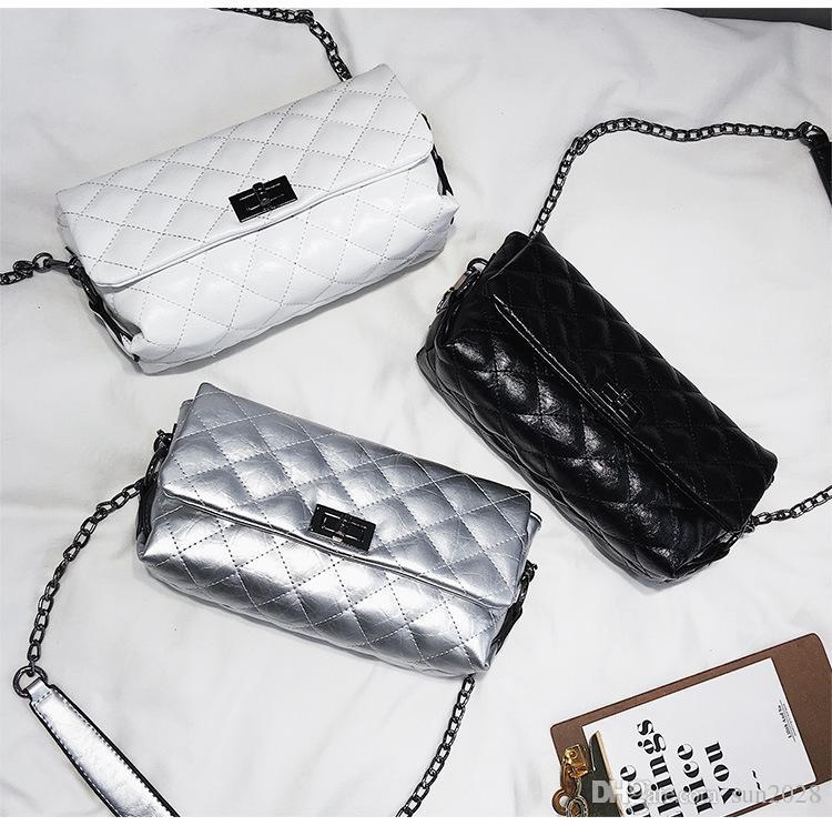 Chain Bag weiblich 2018 neue Leder koreanische Version der Umhängetasche kleine Leder Weihrauch Wind Messenger Bag wild