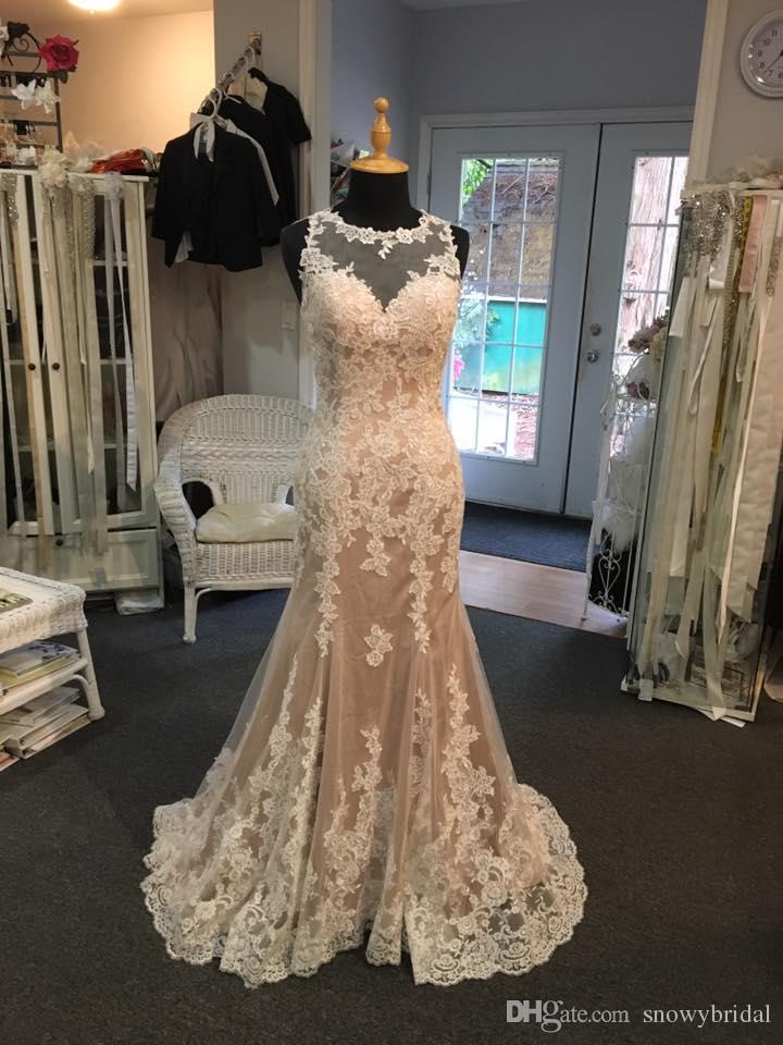Champagne Colored Mermaid Wedding Dresses
